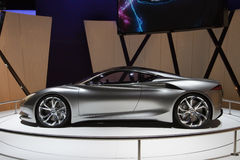 Infiniti Emerg-E Concept - Geneva Motor Show 2012. The Infinit Emerg-E concept car, which would be powered by electric engines, providing 400 bhp, and Royalty Free Stock Image
