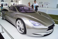 Infiniti Emerg-E hybrid supercar. 30th June 2012 at Goodwood Festival of Speed, West Sussex, England. Infiniti Emerg-E plug in hybrid supercar Stock Photo