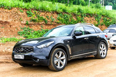 Infiniti FX. PAVLOVKA, RUSSIA - JULY 5, 2014: Motor car Infiniti FX at the countryside Stock Image