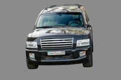 Infiniti. Infiniti black car isolated on a gray background Stock Photos