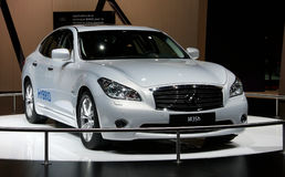 Infiniti M35 Hybrid at Paris Motor Show Royalty Free Stock Photography
