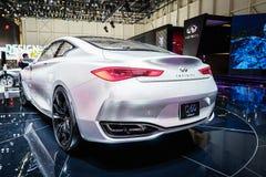 Infiniti Q60 Concept, Motor Show Geneva 2015. Royalty Free Stock Photo