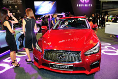 Infiniti Q50 display during the Singapore Motorshow 2016 Stock Photos
