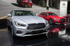 Infiniti Q50 en Q50s auto's Royalty-vrije Stock Afbeeldingen