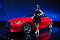 Infiniti Q60 in Geneva Royalty Free Stock Images