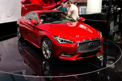 Infiniti Q60 at Geneva 2016 Stock Images