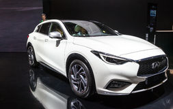 Infiniti Q30 at the IAA 2015. FRANKFURT, GERMANY - SEP 22: New Infiniti Q30 at the IAA International Motor Show 2015. September 22, 2015 in Frankfurt Main Royalty Free Stock Images