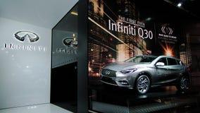 Infiniti Q30 nos carros de IAA Fotos de Stock Royalty Free