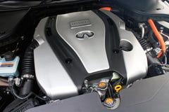 Infiniti Q50S hybrid sedan engine Royalty Free Stock Photos