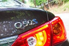 Infiniti Q50S hybrid sedan logo Royalty Free Stock Images