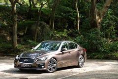 Infiniti Q50S hybrid sedan test drive Royalty Free Stock Photography