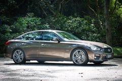 Infiniti Q50S hybrid sedan test drive Stock Photography