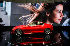 Infiniti Q60. At the 86th Geneva International Motor Show in March 2016 Royalty Free Stock Image
