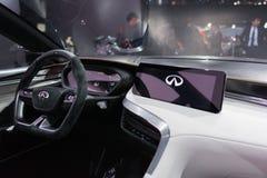 Infiniti QX Sport Inspiration Concept interior Stock Photography