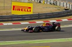 Infiniti Red Bull die, S. Vettel rennen Stock Afbeelding