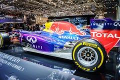 Infiniti Red Bull som springer RB11, motorisk show Geneve 2015 Arkivbilder