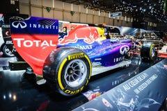 Infiniti Red Bull som springer RB11, motorisk show Geneve 2015 Royaltyfria Foton