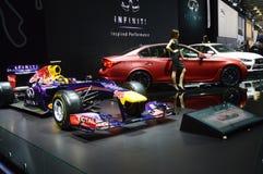 Infiniti Taureau rouge Voiture F1 Salon international d'automobile de Moscou Photos stock