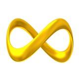 Infinito 3d del oro Imagenes de archivo