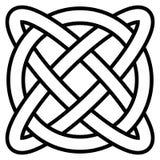 Infinito céltico de la vida eterna del símbolo del nudo, salud del símbolo del amuleto del vector longevidad y, símbolo de la sal libre illustration