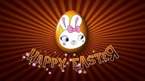 Infinito feliz del remolque 50 FPS del título de la animación de Pascua de oro