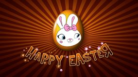 Infinito feliz del remolque 25 FPS del título de la animación de Pascua de oro ilustración del vector