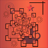 Infinito rosso illustrazione di stock