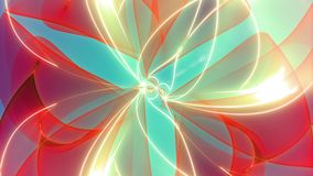 Infinitum // 4k Colorful Abstract Zoom-Out Video Background Loop @60fps stock video footage