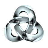 Infinity. Render of wrapped up glass pipe vector illustration