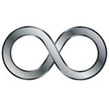 Infinity. Illustration of infinity symbol isolated over white background Stock Images