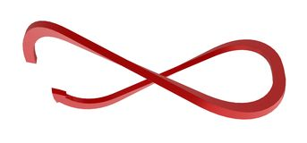 Infinity Arrow Royalty Free Stock Photography