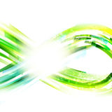 Infinity blue and green drawing with lighting effect Royalty Free Stock Photo