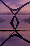 Infinity Bridge Detail Stockton on Tees Stock Images