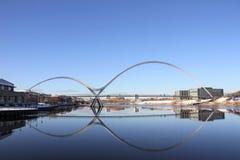 Infinity bridge reflection Stock Photos