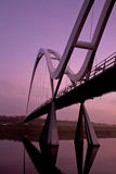 Infinity Bridge Stockton on Tees. Infinity Bridge in Stockto-on-Tees across the river Tees at sunrise Stock Photography