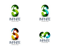 Infinity business logo concept Royalty Free Stock Images