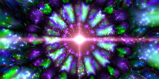 Infinity chaotic background, abstract fractal cycle . Vector illustration. Royalty Free Stock Photos