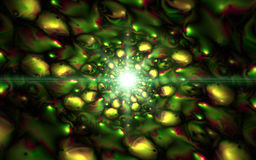 Infinity chaotic background, abstract fractal cycle . Vector illustration. Stock Images