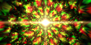Infinity chaotic background, abstract fractal cycle . Vector illustration. Stock Image