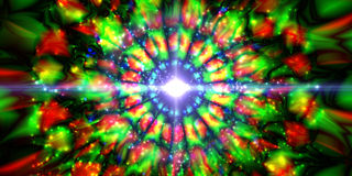 Infinity chaotic background, abstract fractal cycle . Vector illustration. Royalty Free Stock Photo