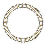 Infinity circle train railway track Stock Photos