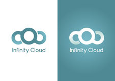 Infinity Cloud. A Cloud in an infinity shape. Stock Photo