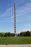 The Infinity Column of Constantin Brancusi, Targu Jiu, Romania. The Infinity Column of sculpture Constantin Brancusi, Targu Jiu, Romania Stock Images
