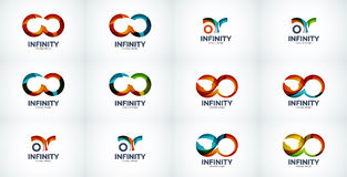 Infinity company logo icon set Stock Photography