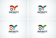 Infinity company logo icon set Royalty Free Stock Images