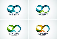 Infinity company logo icon set Royalty Free Stock Photography