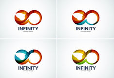 Infinity company logo icon set Stock Photo