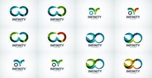 Infinity company logo icon set Royalty Free Stock Photography