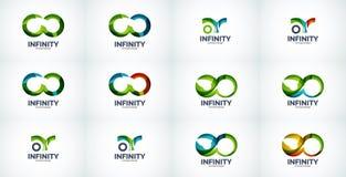 Infinity company logo icon set Stock Photo