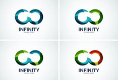 Infinity company logo icon set Stock Photos